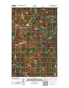 Northwest Peak Montana Historical topographic map, 1:24000 scale, 7.5 X 7.5 Minute, Year 2011