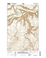 O'Hanlon Coulee Montana Current topographic map, 1:24000 scale, 7.5 X 7.5 Minute, Year 2014 from Montana Maps Store