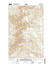 O'Juel Lake Montana Current topographic map, 1:24000 scale, 7.5 X 7.5 Minute, Year 2014 from Montana Maps Store