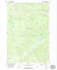 Odell Lake Montana Historical topographic map, 1:24000 scale, 7.5 X 7.5 Minute, Year 1978