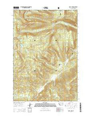 Odell Lake Montana Current topographic map, 1:24000 scale, 7.5 X 7.5 Minute, Year 2014 from Montana Maps Store