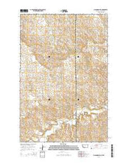 Odland Dam NE Montana Current topographic map, 1:24000 scale, 7.5 X 7.5 Minute, Year 2014 from Montana Maps Store