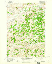 Painted Hill Montana Historical topographic map, 1:24000 scale, 7.5 X 7.5 Minute, Year 1958