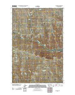 Pea Ridge Montana Historical topographic map, 1:24000 scale, 7.5 X 7.5 Minute, Year 2011