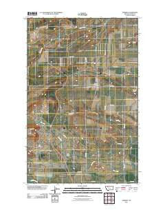Pendroy Montana Historical topographic map, 1:24000 scale, 7.5 X 7.5 Minute, Year 2011