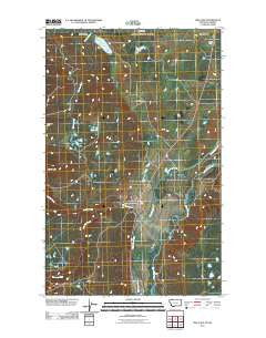 Pike Lake Montana Historical topographic map, 1:24000 scale, 7.5 X 7.5 Minute, Year 2011