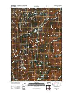 Pikes Peak Montana Historical topographic map, 1:24000 scale, 7.5 X 7.5 Minute, Year 2011