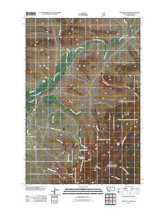 Pinchout Creek Montana Historical topographic map, 1:24000 scale, 7.5 X 7.5 Minute, Year 2011