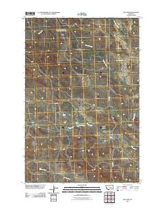 Pine View Montana Historical topographic map, 1:24000 scale, 7.5 X 7.5 Minute, Year 2011