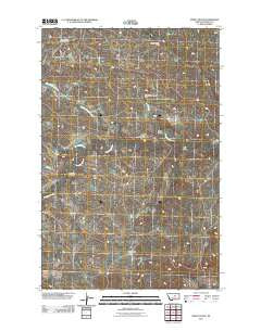 Pipes Coulee Montana Historical topographic map, 1:24000 scale, 7.5 X 7.5 Minute, Year 2011