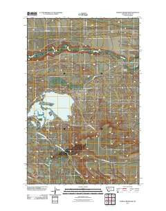 Pishkun Reservoir Montana Historical topographic map, 1:24000 scale, 7.5 X 7.5 Minute, Year 2011