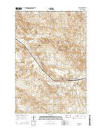 Plevna Montana Current topographic map, 1:24000 scale, 7.5 X 7.5 Minute, Year 2014 from Montana Map Store