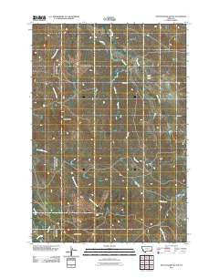 Pocochichee Butte Montana Historical topographic map, 1:24000 scale, 7.5 X 7.5 Minute, Year 2011
