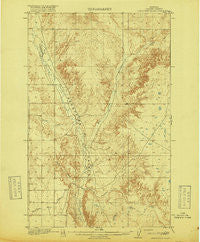 Porcupine Valley Montana Historical topographic map, 1:62500 scale, 15 X 15 Minute, Year 1918