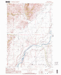 Pray Montana Historical topographic map, 1:24000 scale, 7.5 X 7.5 Minute, Year 1988