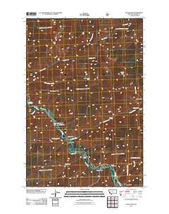 Quigg Peak Montana Historical topographic map, 1:24000 scale, 7.5 X 7.5 Minute, Year 2011