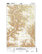 Ragland Bench Montana Current topographic map, 1:24000 scale, 7.5 X 7.5 Minute, Year 2014 from Montana Map Store