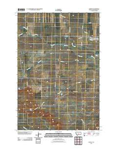 Rapelje Montana Historical topographic map, 1:24000 scale, 7.5 X 7.5 Minute, Year 2011
