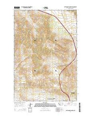 Rattlesnake Mountain Montana Current topographic map, 1:24000 scale, 7.5 X 7.5 Minute, Year 2014 from Montana Maps Store