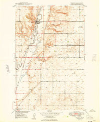 Reserve Montana Historical topographic map, 1:24000 scale, 7.5 X 7.5 Minute, Year 1949