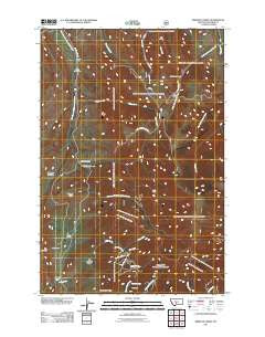 Rimrock Divide Montana Historical topographic map, 1:24000 scale, 7.5 X 7.5 Minute, Year 2011