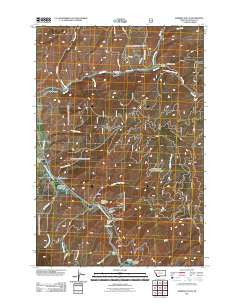 Robbins Gulch Montana Historical topographic map, 1:24000 scale, 7.5 X 7.5 Minute, Year 2011