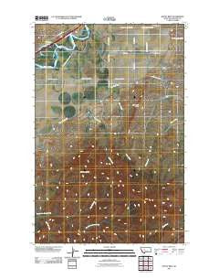 Rocky Reef Montana Historical topographic map, 1:24000 scale, 7.5 X 7.5 Minute, Year 2011
