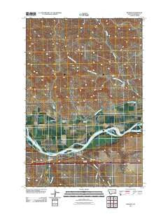 Rosebud Montana Historical topographic map, 1:24000 scale, 7.5 X 7.5 Minute, Year 2011