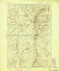 Rosebud Montana Historical topographic map, 1:125000 scale, 30 X 30 Minute, Year 1894