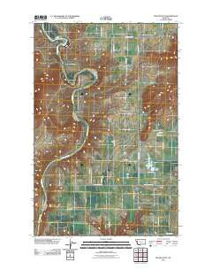 Round Butte Montana Historical topographic map, 1:24000 scale, 7.5 X 7.5 Minute, Year 2011
