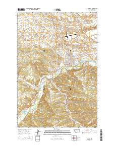 Roundup Montana Current topographic map, 1:24000 scale, 7.5 X 7.5 Minute, Year 2014