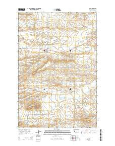 Roy Montana Current topographic map, 1:24000 scale, 7.5 X 7.5 Minute, Year 2014