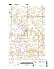 Rudyard NW Montana Current topographic map, 1:24000 scale, 7.5 X 7.5 Minute, Year 2014
