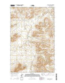Russell Chapel Montana Current topographic map, 1:24000 scale, 7.5 X 7.5 Minute, Year 2014