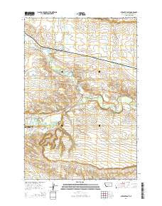 Ryegate East Montana Current topographic map, 1:24000 scale, 7.5 X 7.5 Minute, Year 2014