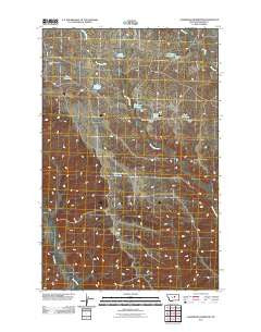 Sagebrush Reservoir Montana Historical topographic map, 1:24000 scale, 7.5 X 7.5 Minute, Year 2011
