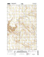 Saint Johns Montana Current topographic map, 1:24000 scale, 7.5 X 7.5 Minute, Year 2014 from Montana Map Store