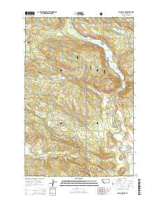 Salmon Lake Montana Current topographic map, 1:24000 scale, 7.5 X 7.5 Minute, Year 2014
