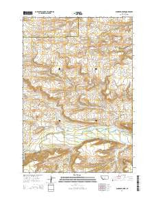 Sandborn Creek Montana Current topographic map, 1:24000 scale, 7.5 X 7.5 Minute, Year 2014