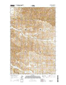 Savage SE Montana Current topographic map, 1:24000 scale, 7.5 X 7.5 Minute, Year 2014