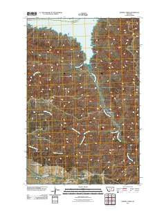 Sawmill Creek Montana Historical topographic map, 1:24000 scale, 7.5 X 7.5 Minute, Year 2011