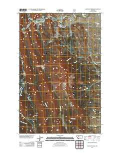 Sawtooth Ridge Montana Historical topographic map, 1:24000 scale, 7.5 X 7.5 Minute, Year 2011