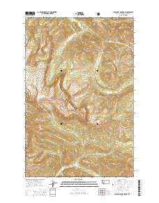 Scapegoat Mountain Montana Current topographic map, 1:24000 scale, 7.5 X 7.5 Minute, Year 2014