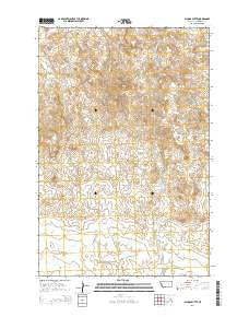 School Butte Montana Current topographic map, 1:24000 scale, 7.5 X 7.5 Minute, Year 2014