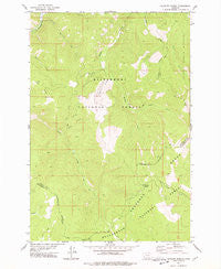 Schultz Saddle Montana Historical topographic map, 1:24000 scale, 7.5 X 7.5 Minute, Year 1977