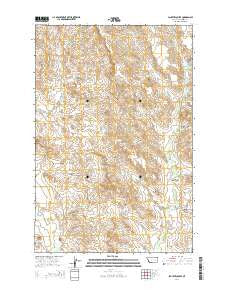 Schultz Coulee Montana Current topographic map, 1:24000 scale, 7.5 X 7.5 Minute, Year 2014
