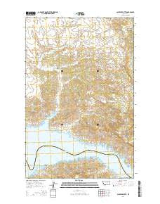 Schuyler Butte Montana Current topographic map, 1:24000 scale, 7.5 X 7.5 Minute, Year 2014
