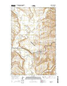Scobey Montana Current topographic map, 1:24000 scale, 7.5 X 7.5 Minute, Year 2014