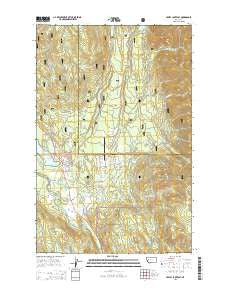 Seeley Lake East Montana Current topographic map, 1:24000 scale, 7.5 X 7.5 Minute, Year 2014