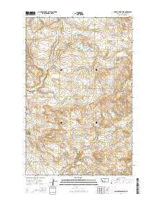 Seifort Reservoir Montana Current topographic map, 1:24000 scale, 7.5 X 7.5 Minute, Year 2014